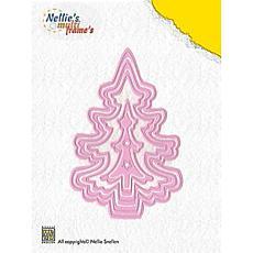 Nellie's Choice Multi Frame Dies - Christmas Tree (Set of 5)