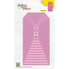 Nellie's Choice Multi Frame Dies Stitched Straight Tag-2