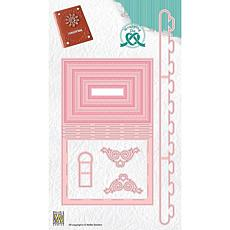 Nellie's Choice Wrapping Dies Gift Box 9 Book