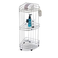 Neu Home 3-Shelf Chrome Rolling Corner Caddy