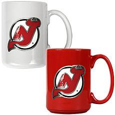 New Jersey Devils 2pc Coffee Mug Set