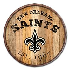 """New Orleans Saints Established Date 24"""" Barrel Top"""