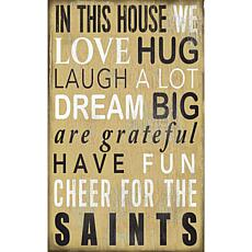 New Orleans Saints In This House Sign
