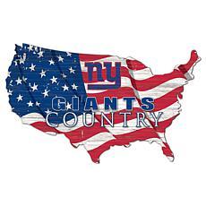 New York Giants USA Shape Flag Cutout