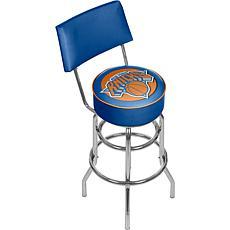 New York Knicks Padded Swivel Bar Stool with Back