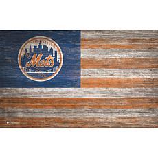 New York Mets Distressed Flag 11x19