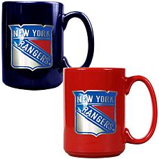 New York Rangers 2pc Coffee Mug Set
