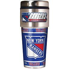 New York Rangers Travel Tumbler w/ Metallic Graphics and Team Logo