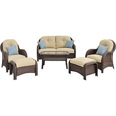 Newport 6-piece Deep-Seating Wicker Patio Set