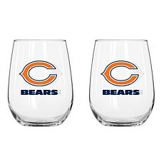 NFL 16 oz. 2-pack  Beverage Glass - Chicago Bears