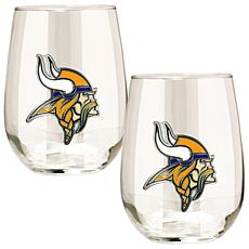 NFL 2-piece Wine Glass Set - Minnesota Vikings
