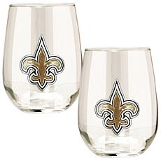 NFL 2-piece Wine Glass Set -  New Orleans Saints