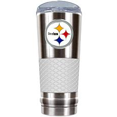 NFL 24 oz. Stainless/White Draft Tumbler - Steelers