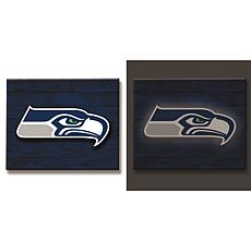 NFL Backlit Wood Plank Wall Sign - Seahawks