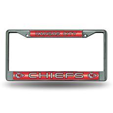 NFL Bling Chrome Frame - Chiefs