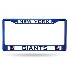 NFL Blue Chrome License Plate Frame - Giants