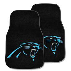 NFL Carolina Panthers 2-piece Carpet Car Mat Set