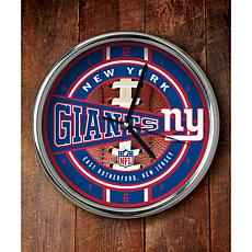 NFL Chrome Clock - Giants