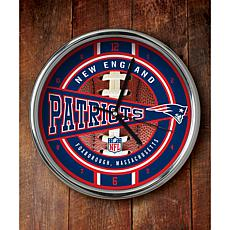 NFL Chrome Clock - Patriots