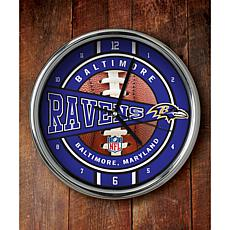 NFL Chrome Clock - Ravens