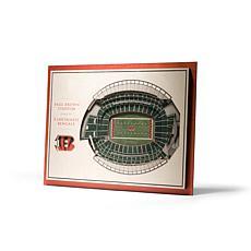 NFL Cincinnati Bengals StadiumViews 3-D Wall Art - Paul Brown Stadium