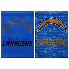 NFL Double-Sided Glitter Flag - San Diego Chargers