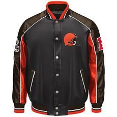 NFL Faux Leather Varsity Jacket by Glll
