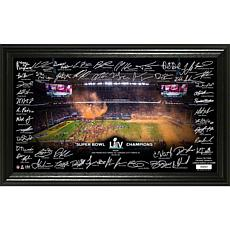 NFL Kansas City Chiefs Super Bowl LIV Champions Signature Grid