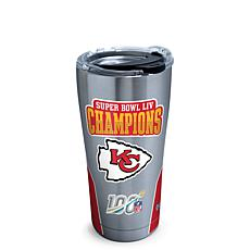 NFL KS City Chiefs SB 54 Champions 20oz Stainless Steel Tumbler w/ lid