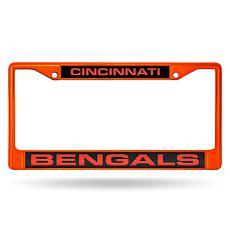 NFL Laser-Cut Chrome License Plate Frame -  Bengals