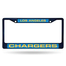 NFL Laser-Cut Chrome License Plate Frame -  Chargers