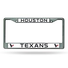 NFL Laser-Cut Chrome License Plate Frame -  Texans