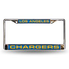 NFL Light Blue Laser-Cut License Plate Frame-Chargers
