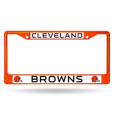 NFL Orange Chrome License Plate Frame - Browns