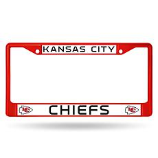 NFL Red Chrome License Plate Frame - Chiefs