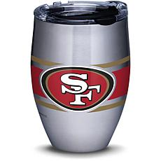 NFL San Francisco 49ers Stripes 12 oz Stainless Steel Tumbler with lid