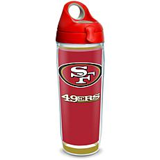 NFL San Francisco 49ers Touchdown 24 oz Water Bottle with lid