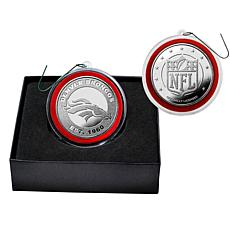 NFL Silver Coin Ornament - Denver Broncos
