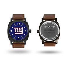 """NFL Sparo """"Knight"""" Faux Leather Strap Personalized Watch - Giants"""