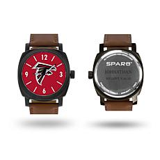 """NFL Sparo """"Knight"""" Faux Leather Strap Personalized Watch - Falcons"""