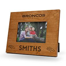 NFL Sparo Personalized Wood Picture Frame - Broncos