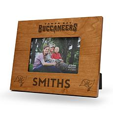 NFL Sparo Personalized Wood Picture Frame - Buccaneers