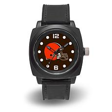 "NFL Sparo Team Logo ""Prompt"" Black Strap Sports Watch - Browns"