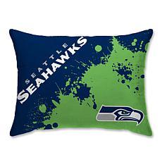 "NFL Splatter Print Plush 20"" x 26"" Bed Pillow - Seattle Seahawks"