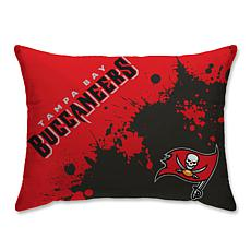"NFL Splatter Print Plush 20"" x 26"" Bed Pillow - Tampa Bay Buccaneers"