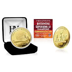 NFL Tampa Bay Buccaneers Super Bowl LV Champions Gold-Plated Coin