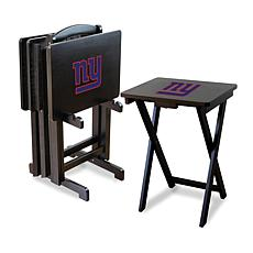 NFL Team Logo Set of 4 TV Trays with Stand - Giants