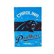 NFL Vintage Linen Garden Flag - Panthers