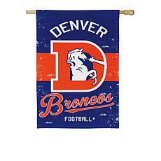 NFL Vintage Linen House Flag - Broncos