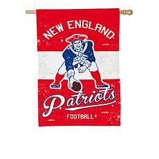 NFL Vintage Linen House Flag - Patriots